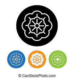 Beautiful Flower icon and logo in trendy linear style...
