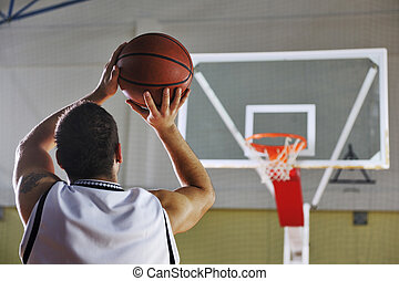basketball player shooting - basketball game playeer...