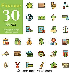 Color finance icons