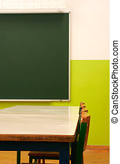 classroom - detail of a classroom with a blackboard