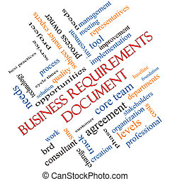 Business Requirements Document Word Cloud Concept Angled -...