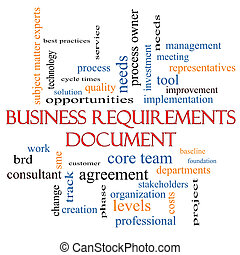 Business Requirements Document Word Cloud Concept with great...