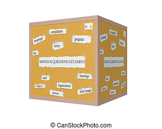 Business Requirements Document 3D Corkboard Word Concept...