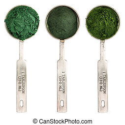blue green, chlorella and spirulina - Nutrient-rich organic...