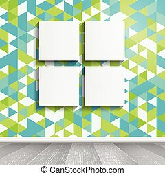 blank canvases on retro wallpaper 0704