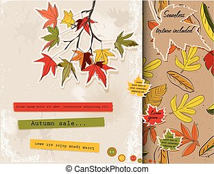 Scrapbooking set about autumn. Vector illustration EPS10
