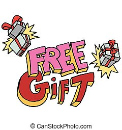 free gift message - An image of a free gift message.