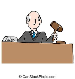 judge holding gavel - An image of a judge holding gavel