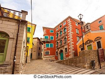 Labin, little town in Istria, Croatia - View of Labin,...
