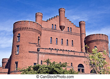 Old armory building on campus of Wisconsin University at...