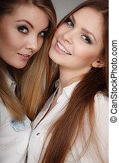 Charming positive female siblings - Sisterhood and siblings...