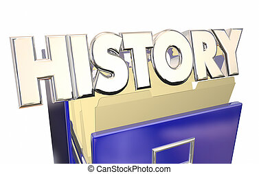 History 3d Word File Cabinet Archive Documents Old Paperwork...