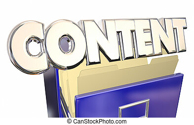 Content File Cabinet 3d Word Papers Documents Filing