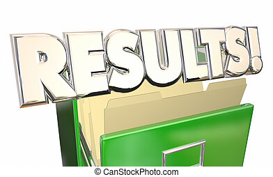 Results Output Test Evaluation Answers Report File Cabinet 3d Word