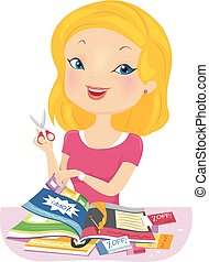 Girl Magazines Discount Coupons - Illustration of a Girl...