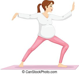 Girl Pregnant Tai Chi - Illustration of a Pregnant Girl...