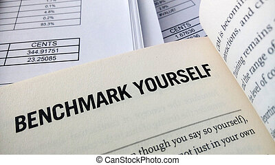 Benchmark yourself word on the book with balance sheet as...