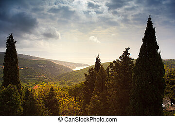 View of Rabac sea, istria, Croatia - View of Rabac sea in...