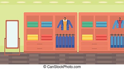 Background of clothes store. - Background of clothes store...
