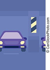 Background of car shop - Background of car shop vector flat...