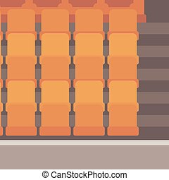 Empty theater seats. - Empty theater seats vector flat...