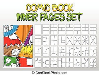Comic book inner pages set
