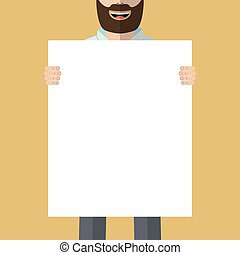 Man with placard