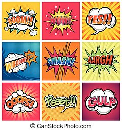Comic Expression - A vector illustration funny comic...