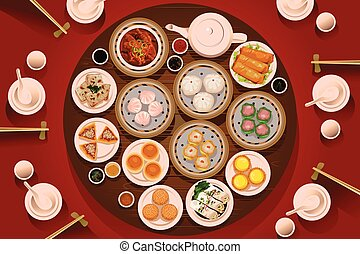 Dimsum Food on the Table
