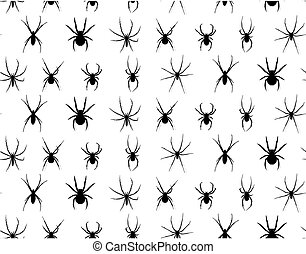 Seamless background with spiders.