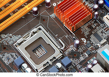 Focus CPU socket on motherboard of computer - Focus CPU...