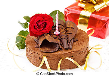 蛋糕, 愉快, 生日,  -, 喜慶