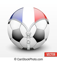 France symbol inside football ball Vector sport Illustration...