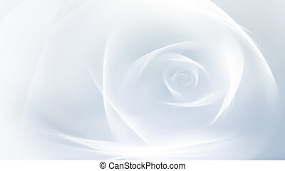 Abstract fractal white rose as a background