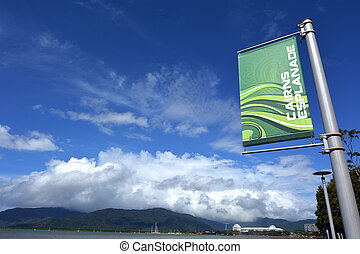 Cairns Esplanade in Queensland Australia - Cairns Esplanade,...