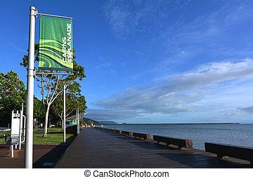 Cairns Esplanade in Queensland Australia - Cairns Esplanade,...