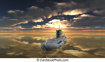 Submarine - 3D CG rendering of a submarine