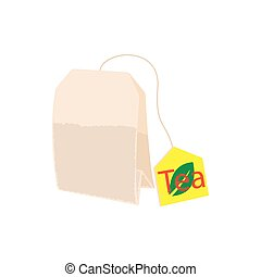 Teabag icon in cartoon style