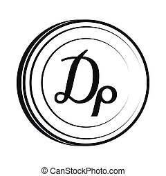 Drachma icon, simple style - Drachma icon in simple style...