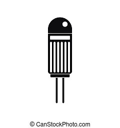 Halogen bulb icon, simple style - Halogen bulb icon in...