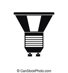 Luminodiode icon in simple style on a white background