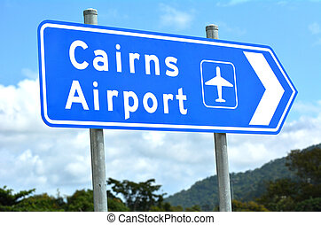 Cairns airport Queensland Australia - Cairns airport traffic...