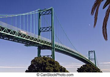 Vincent Thomas Bridge, Los Angeles Harbor - Vincent Thomas...