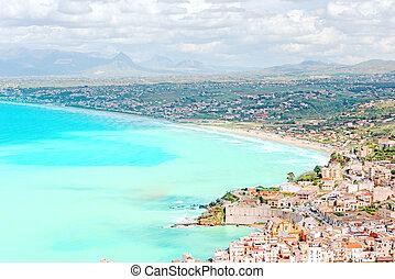 Italian coast at Sicily