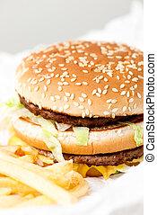podwójny,  Mcdonalds, hamburger