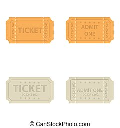 Vector  vintage cinema tickets.