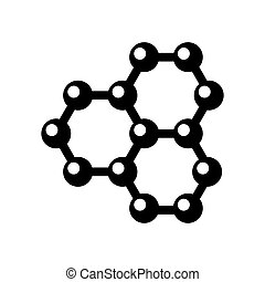 Vector graphene structure icon on white background