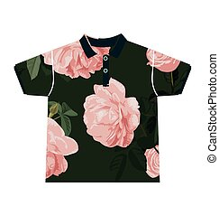 floral pattern shirt - Illustration of floral pattern shirt...