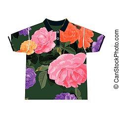 floral pattern shirt - Illustration of floral pattern shirt...