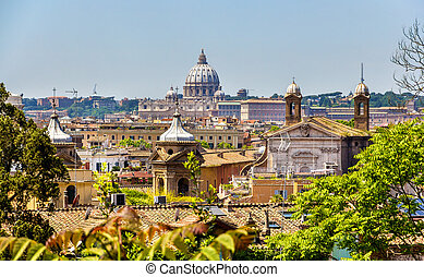 View of Rome historic center, Italy